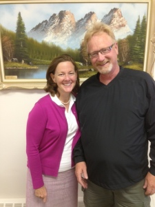 I enjoyed sharing dinner with Premier Allison Redford after the Redwater community golf tournament.